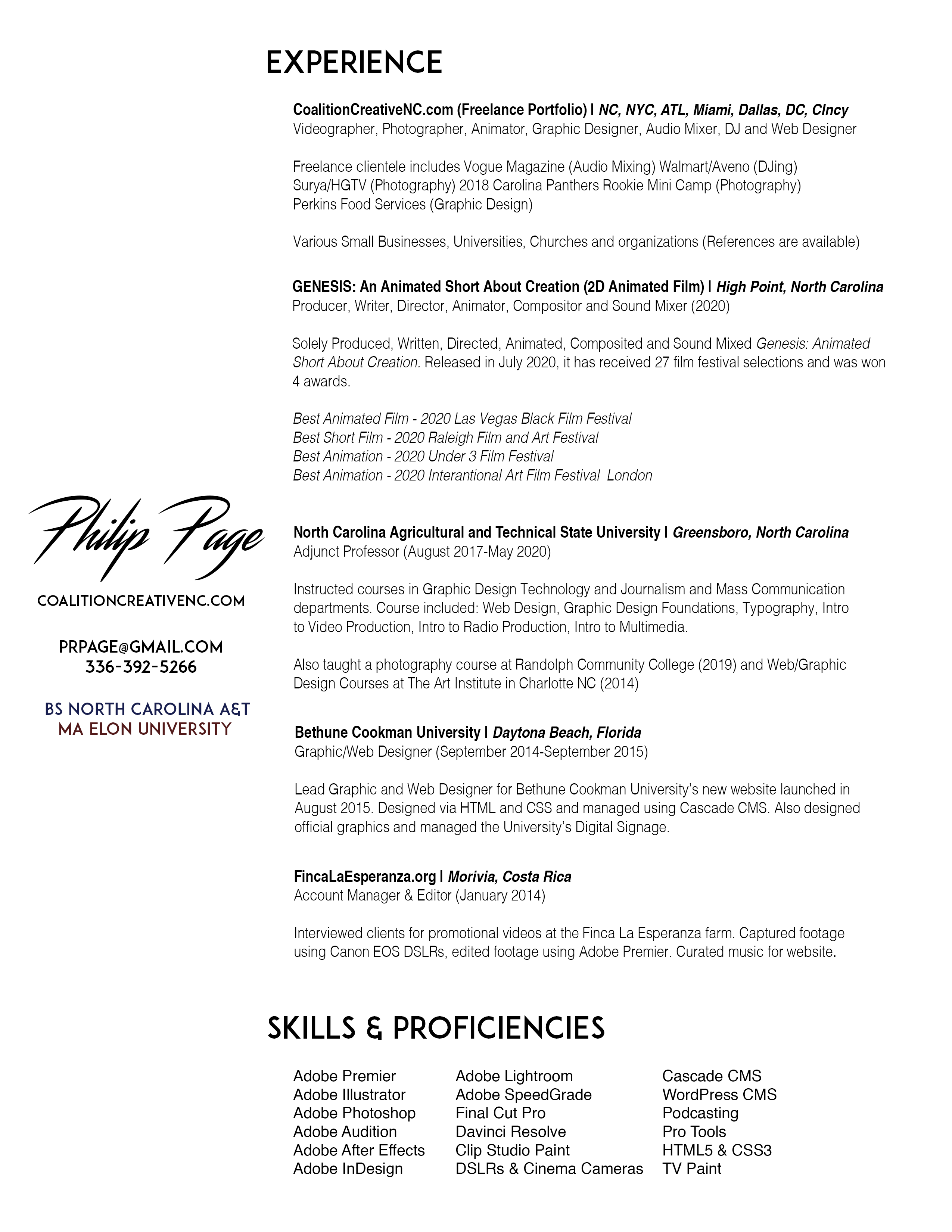 2020 Philip PageResume